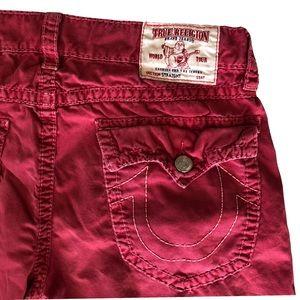 True Religion Jeans - Men's Red True Religion straight leg jeans